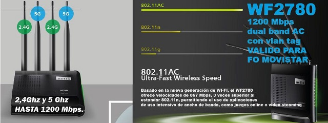 ROUTER WF2780 AC1200 Mbps